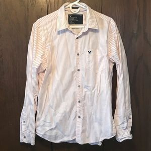 American Eagle • striped button down